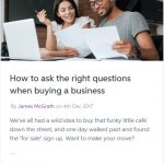 Buying A Business : How to ask the right questions?